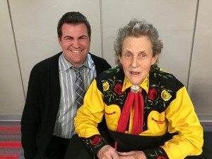 Thomas Iland and Temple Grandin